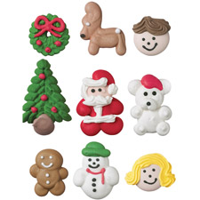 Gingerbread Accessories - Handmade Icing Decorations