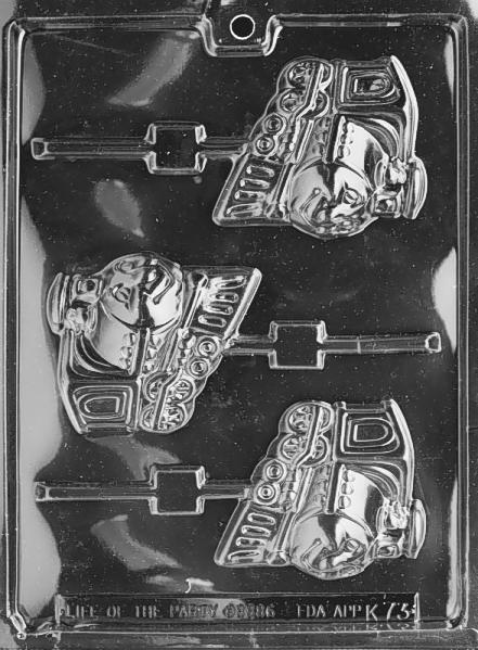 Chocolate Candy Mold - Happy Train Lolly