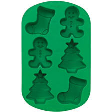 Christmas Silicone Mold - Mini Stocking / Gingerbread Boy / Tree